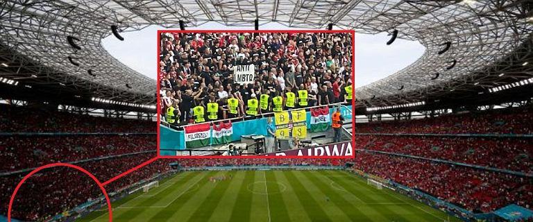 """Burza wokół transparentu na meczu Euro 2020. """"To pokazuje, w jakim miejscu są Węgry"""""""