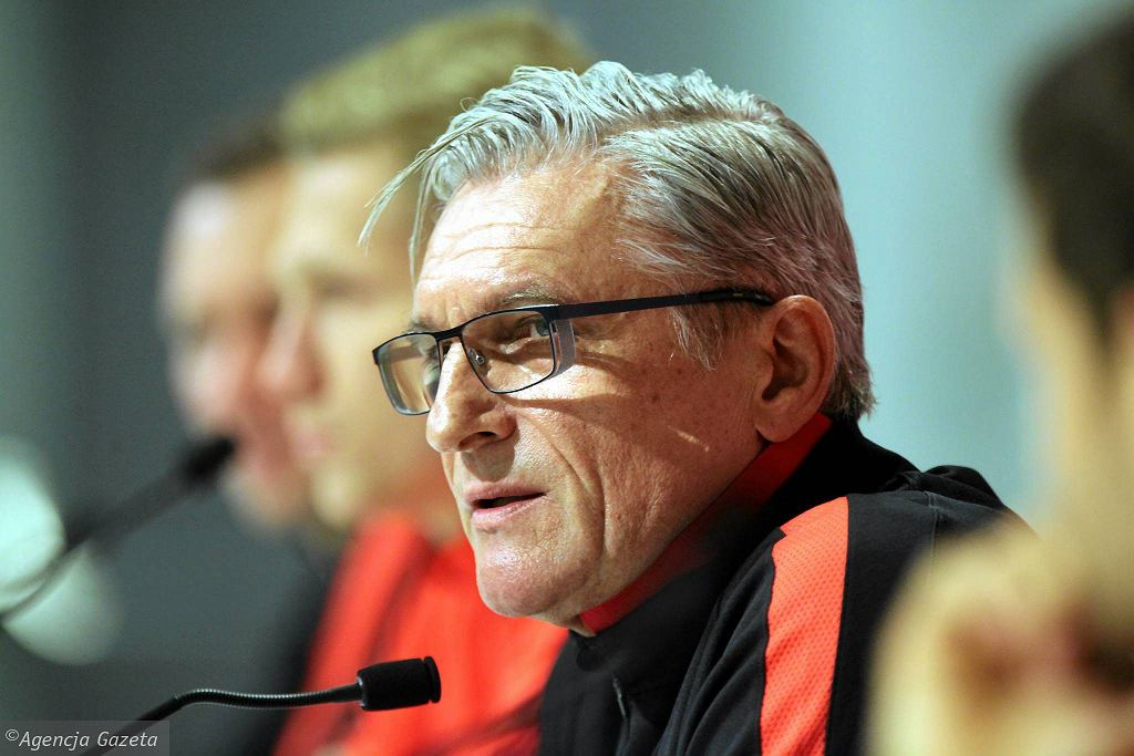 Adam Nawałka podczas konferencji przed meczem Polska - Słowenia