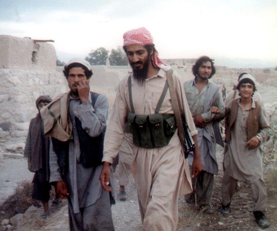 Osama ben Laden w Afganistanie, zdjęcie z 1989 r.