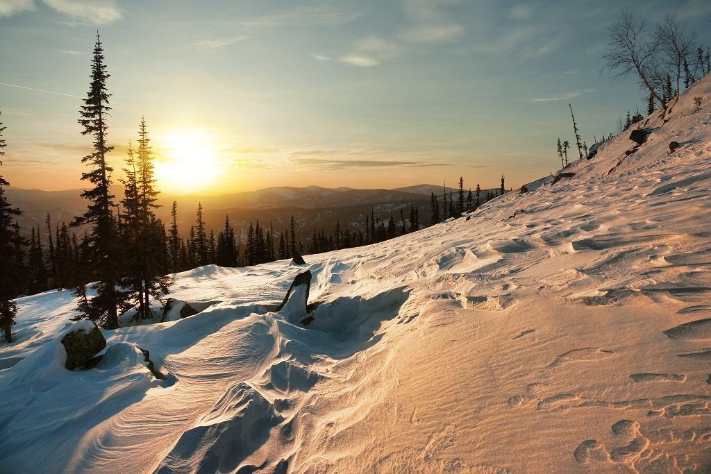 Syberia zimą - Kuznetsk Alatau (zdjęcie ilustracyjne)