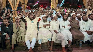 Aleksandria, wiec salafickiego ugrupowania An-Nour (Światło), drugiej partii politycznej w Egipcie