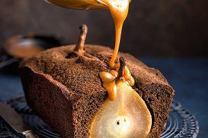 Ciasto imbirowe zgruszkami isosem karmelowym