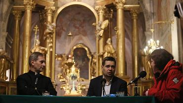 Michał Królikowski w kościele św. Anny podczas spotkania z cyklu Katechez Warszawskich