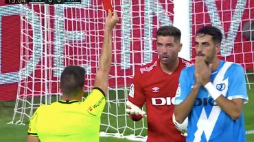 Luca Zidane, reakcja po tym jak otrzymał czerwoną kartkę. Źródło: Twitter