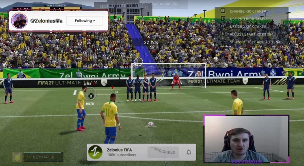 YouTuber odkrył poważny błąd w grze FIFA 21. Umożliwia łatwe strzelanie goli z rzutów wolnych