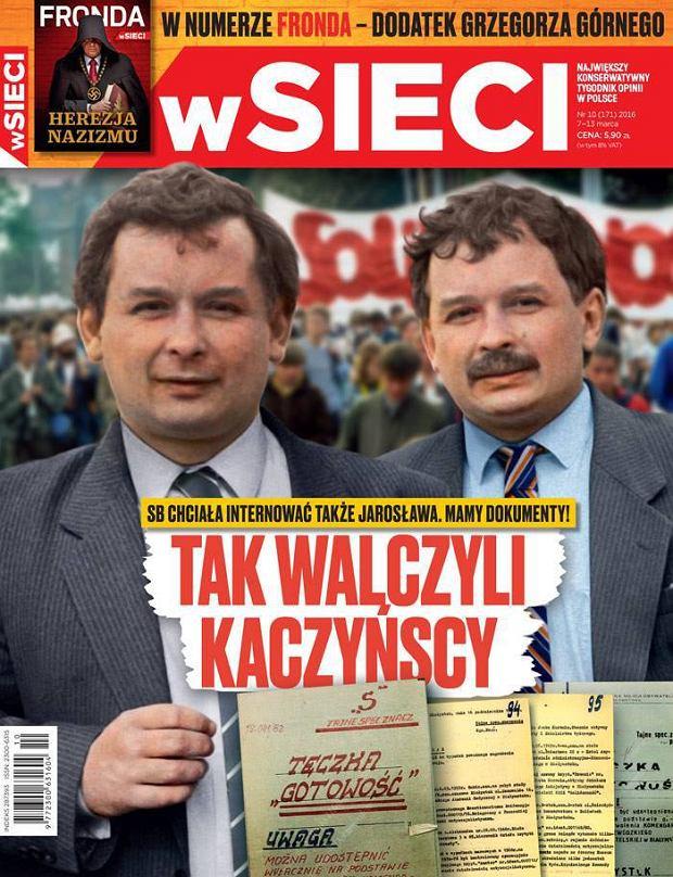 Okładka tygodnika 'wSieci' z marca 2016 roku
