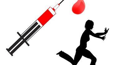 Hematofobia raczej nie pozwala na ucieczkę. Łatwiej o omdlenie na widok krwi