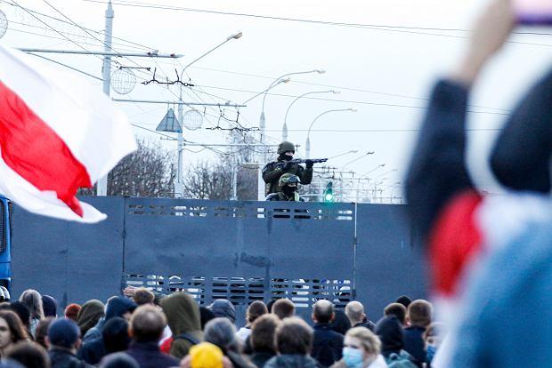 Protesty w Mińsku, 25 października 2020.