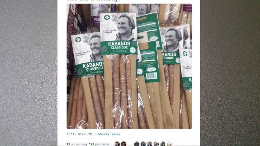 Na wędliny w opakowaniach z wizerunkiem gwiazdora natknęła się w jednym z moskiewskich supermarketów Ola Cichowlas, reporterka AFP w Moskwie