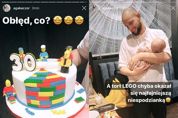 Agnieszka Kaczorowska pokazała tort urodzinowy męża