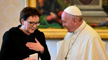 Ewa Kopacz u papieża Franciszka