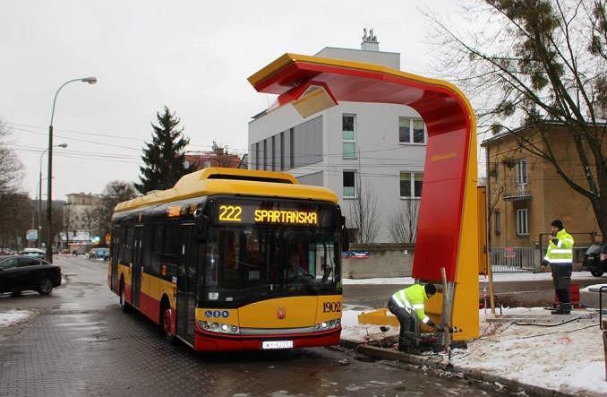 Pierwsza w Warszawie ładowarka prądu do autobusów elektrycznych na pętli Spartańska