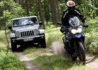 Jeep Wrangler vs. Triumph Tiger   Konfrontacja   Leśne szaleństwo