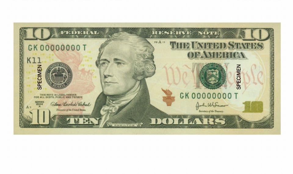 Banknot 10 dolarowy
