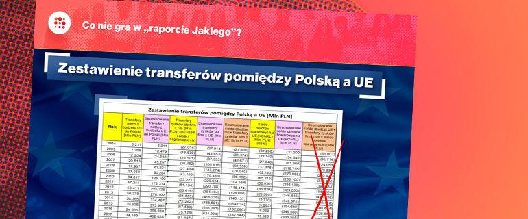 """Raport Jakiego ws. UE """"momentami wygląda na losowy generator liczb"""""""