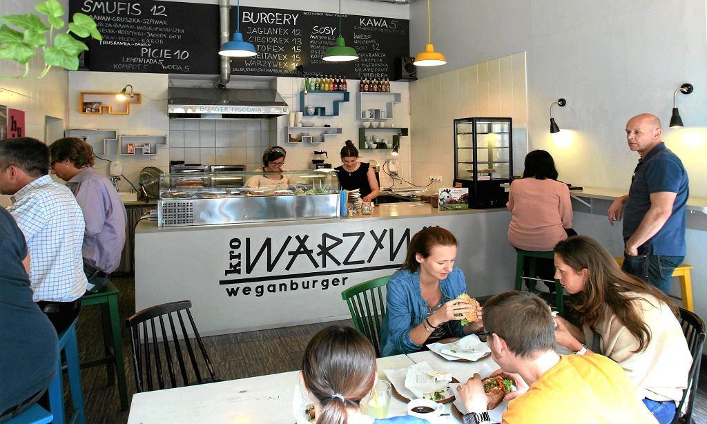 Wegańska burgerownia Krowarzywa.
