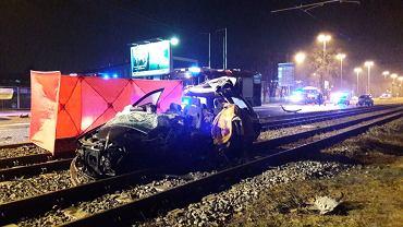 Wypadek na ulicy Aleksandrowskiej w Łodzi.