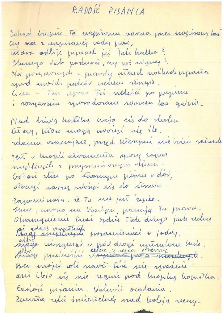 Wisława Szymborska Ręką Lewą Wystawa Rękopisów Noblistki