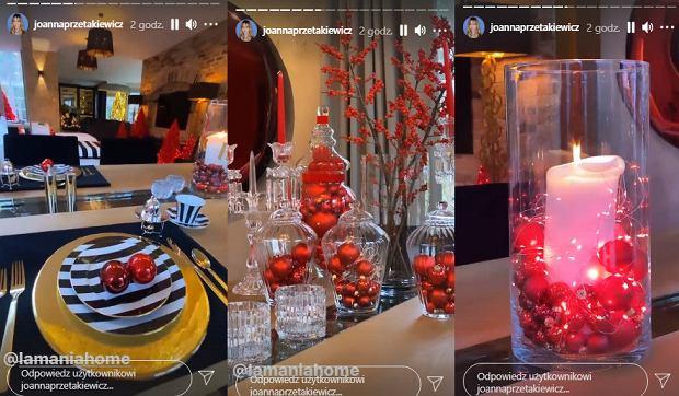 Świąteczne ozdoby w domu Joanny Przetakiewicz