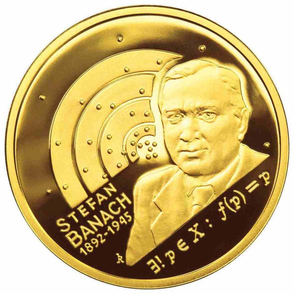 Moneta upamiętniająca najwybitniejszego polskiego matematyka - Stefana Banacha