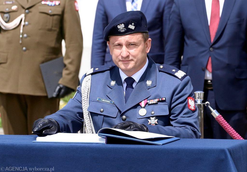 Komendant Służby Ochrony Państwa Tomasz Miłkowski podczas święta Służby Ochrony Państwa, 12 czerwca 2018.