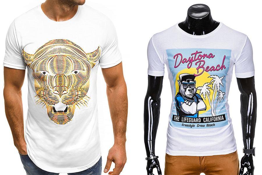 T-shirty z nadrukami do letnich stylizacji