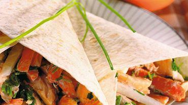 Tortille z pieczoną rybą