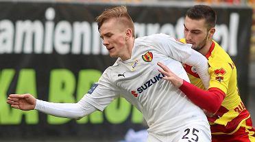 Grzegorz Szymusik podczas meczu Jagiellonia Białystok - Korona Kielce