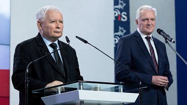 Prezes PiS Jarosław Kaczyński i prezes Porozumienia Jarosław Gowin.