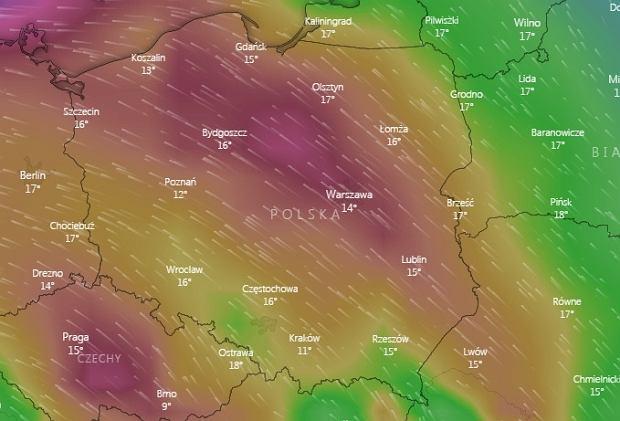 Wichura nad Polską