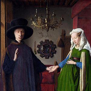 Portret małżonków Arnolfinich,  Jan van Eyck, 1434