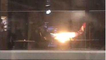 Pożar samolotu w Seattle
