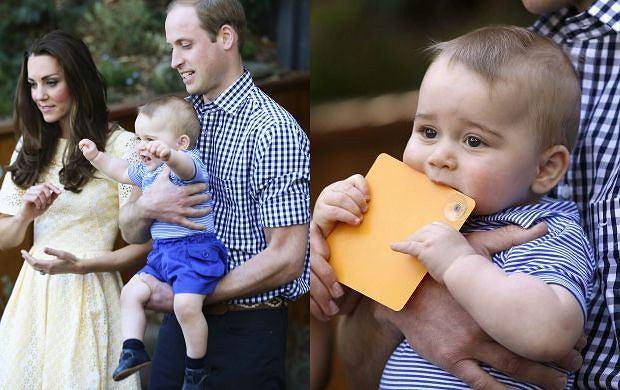 21 kwietnia książę George kończy 9 miesięcy. Ma już pierwsze trzy zęby. Szczerzył je w rozbrajającym uśmiechu podczas wizyty w Taronga Zoo w Sydney w niedzielę.