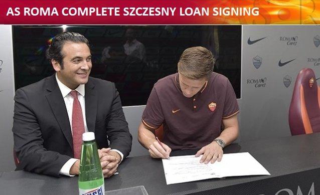 Wojciech Szczęsny podpisuje kontrakt