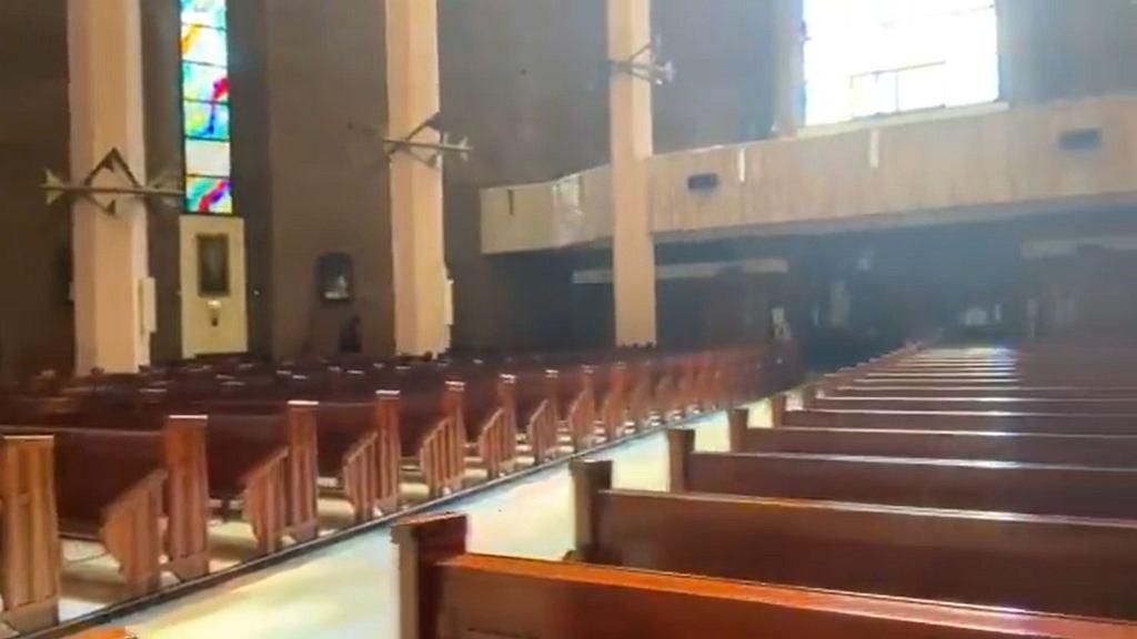 Zakonnik nagrał film z pustego kościoła