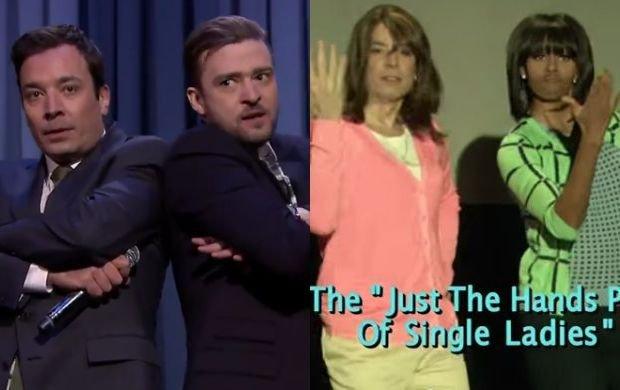 Jimmy Fallon z Justinem Timberlakiem i Michelle Obamą