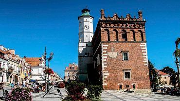 Sierpień 2016. Śniadanie na Rynku w Sandomierzu