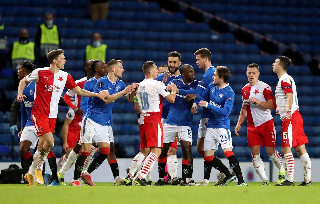 18.03.2021, Glasgow, mecz Ligi Europy Glasgow Rangers - Slavia Praga.