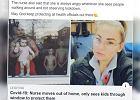 Pielęgniarka wyprowadziła się z domu, by chronić męża i troje dzieci. Wzruszające zdjęcie pokazuje, ile kosztuje ich rozłąka