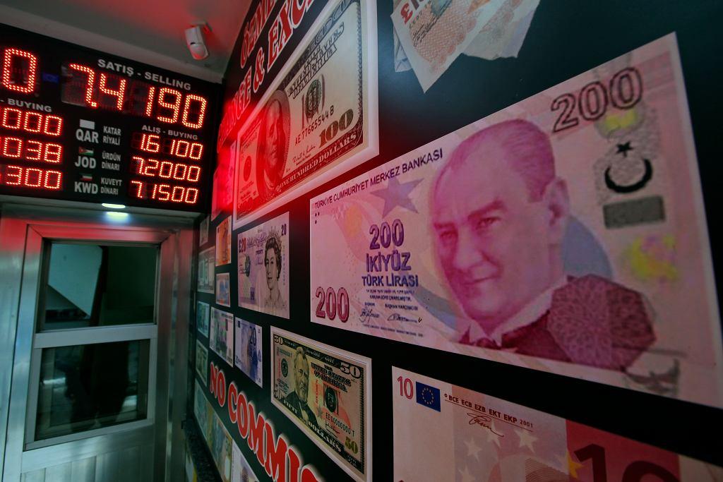 Lira turecka w ostatnich dniach mocno się osłabiała