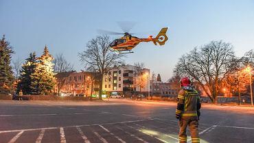 Śląsk. Śmigłowce LPR będą pomagać w relokacji pacjentów z COVID-19. 'Sytuacja jest tragiczna'