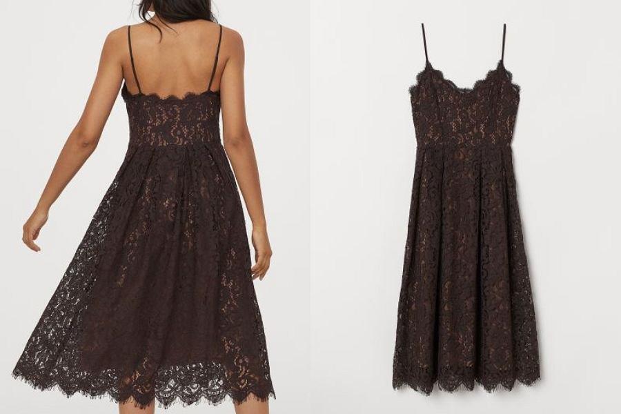 sukienka koronkowa HM