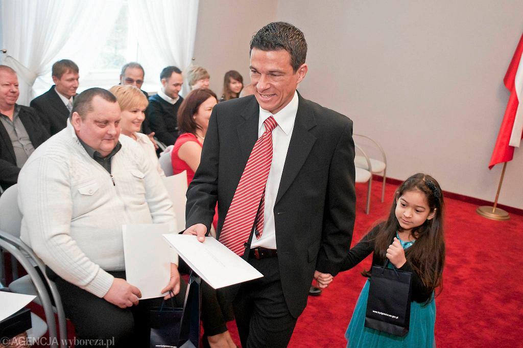 Piłkarz Zawiszy Hermes Neves Soares odebrał polskie obywatelstwo