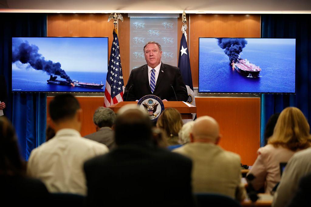Mike Pompeo: Iran stoi za atakami na tankowce w Zatoce Omańskiej