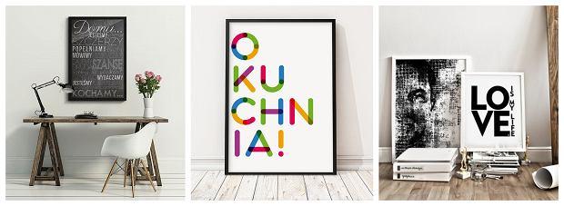 Obrazy z motywem typografii