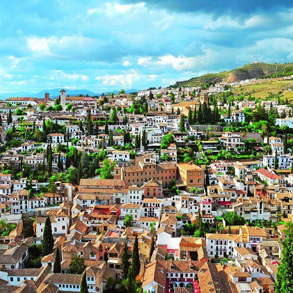 Panorama Albaicin, dzielnica Granady