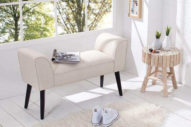 Elegancka, tapicerowana ławka do przedpokoju