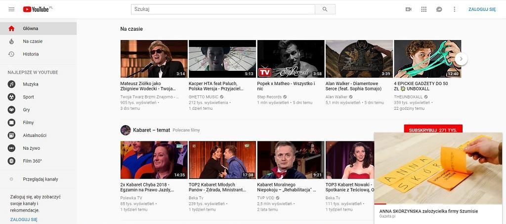 Mini-odtwarzacz na YouTube