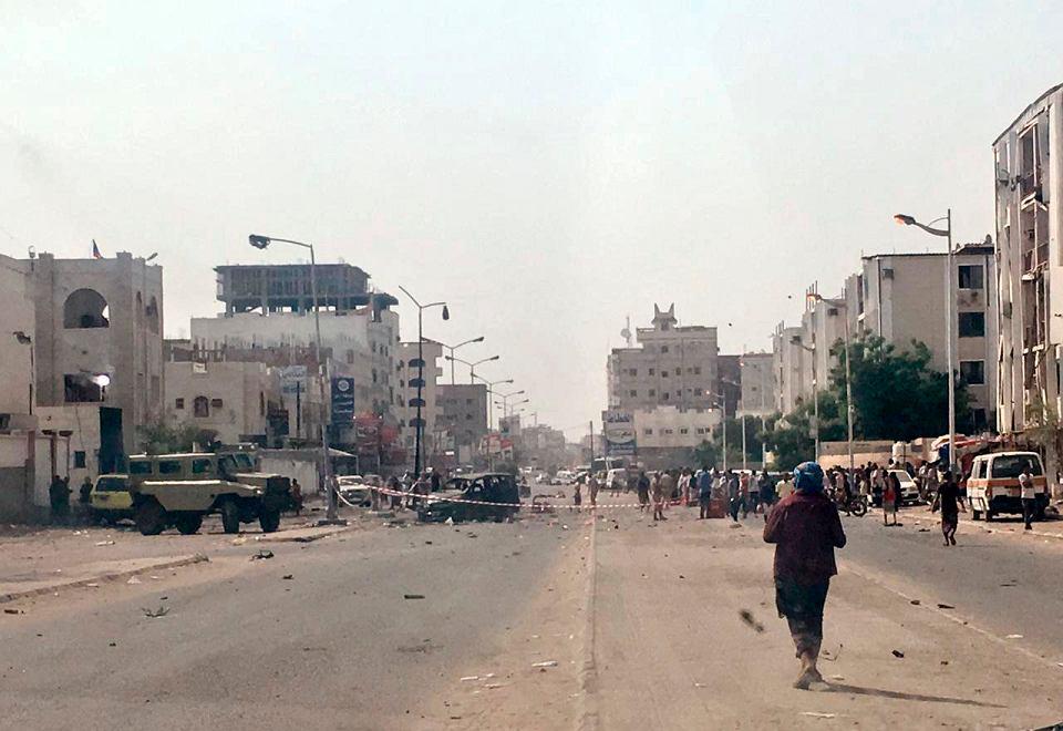 Zamach bombowy podczas parady w Jemenie. Aden, 1 sierpnia 2019