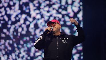 Jerzy Owsiak podczas  festiwalu Pol'and'rock